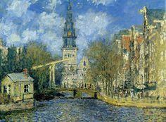 'The Zuiderkerk at Amsterdam' | by Claude Monet / Wayfair