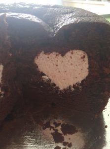 Surprise Inside - Wilton Tasty Fill Heart Cake Pan! Recipe on www.bakingalchemy.com/surprise-inside-heart-cake-♡