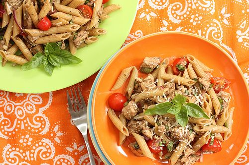 World Heart Day, Recipes for Bistro Chicken Pasta Salad and Quick Dark Chocolate Brownies, AND a Le Creuset Skillet Giveaway (Podcast #159)