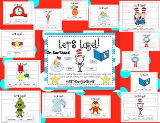 Seuss Labeling Pack..freebie, too!