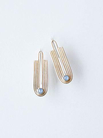Odette Kaj Earring - Kyanite/Brass
