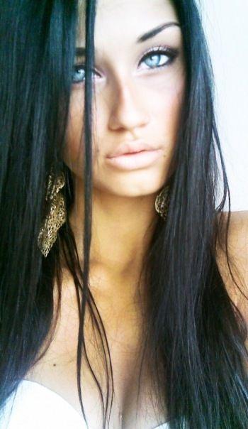 Black/pale Lips | Makeup | Pinterest | Long Black Hair Dark Blue Eyes And Eyes