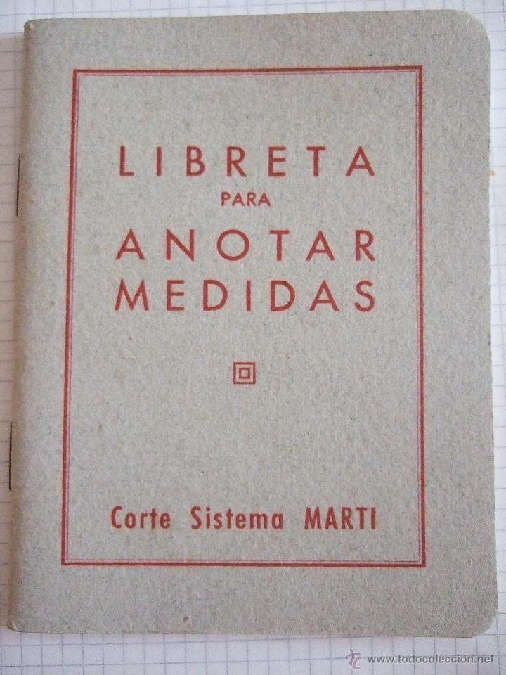 LIBRETA PARA ANOTAR MEDIDAS - CORTE SISTEMA MARTI - SIN USAR (Coleccionismos - Tauromaquia)