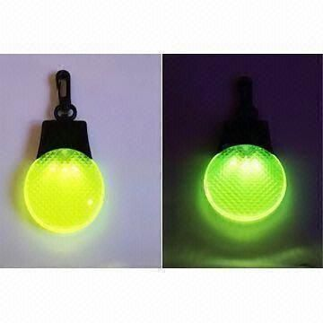 LED Emergency Warning Flashing Light with Keychain and Three Flash Modes, Made of ABS