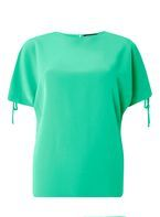 Womens Green Tie Cold Shoulder Top- Green