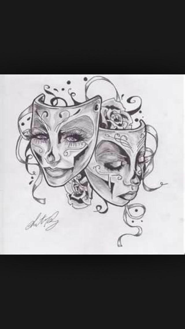 Skull Drama Face Tattoo: Pin By Iris McCarthy-Lewis On Music