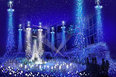 カレッタ汐留にてイルミネーション『カノン・ダジュール Cayo d#39Azu ~青い星の谷~』が開催。期間は、2015年11月19日(木)から2016年2月14日(日)まで。今回で記念すべき10周年...