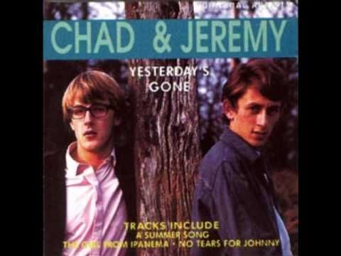 """""""A Summer Song""""  Chad & Jeremy - loved their songs, loved the names-were so different from Mark,Jim,Bill,John etc - Remember them on The Dick Van Dyke show -- ah memories!"""