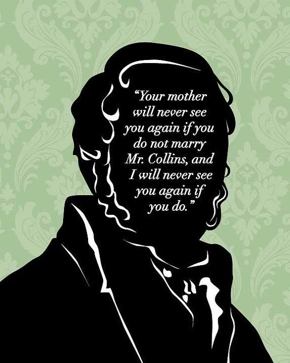 Jane Austen Quote - Mr Bennet - Pride and Prejudice Art Print - $19.95