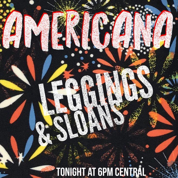 Americana Albums going up in my group tonight at 6pm central!! 🇺🇸❤️ . . . #americana #lularoeamericana #americanaleggings #americanasloans #leggings #sloans #lularoe #redwhiteandblue #fireworks #stars #patchwork #bombpop #popsicles #pitbull #lularoelatreciafrancis 🤗