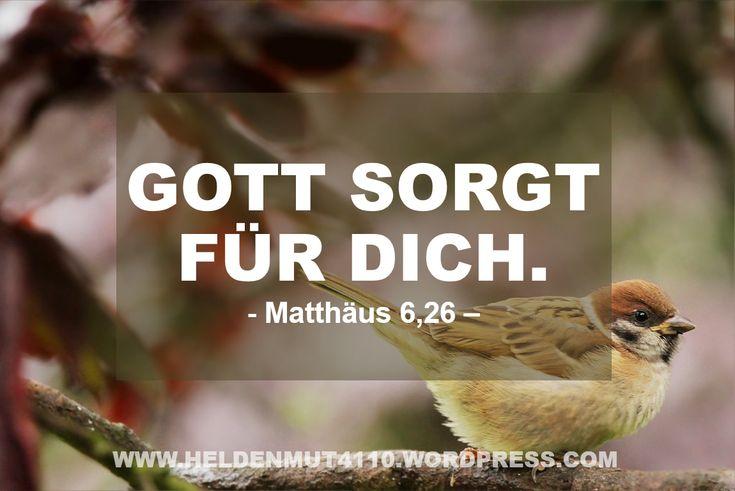 Vertraust du auf Gottes Versorgung oder kümmerst du dich lieber um sich selbst? https://heldenmut4110.wordpress.com/2016/08/01/vetrauen-in-gottes-versorgung/