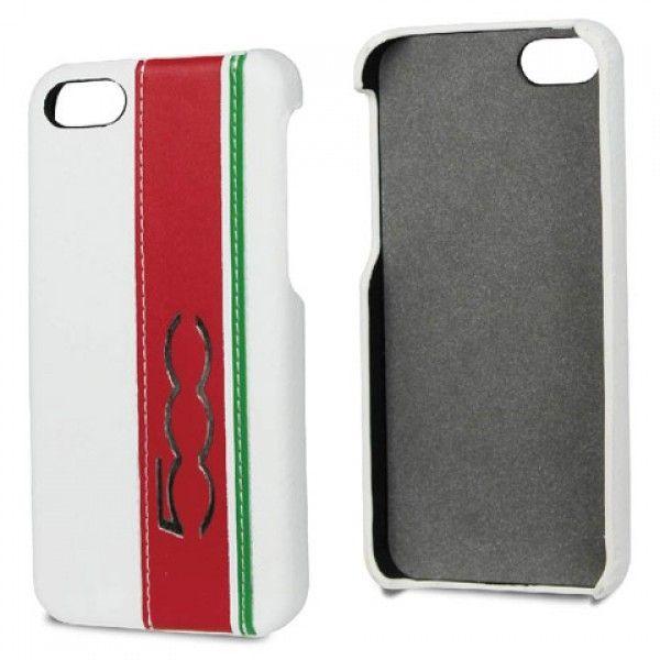Fiat Back Case Cinquecento White voor Apple iPhone 5S / 5