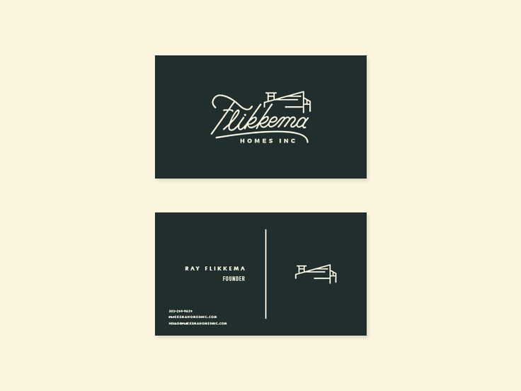 Flikkema Homes Business Cards