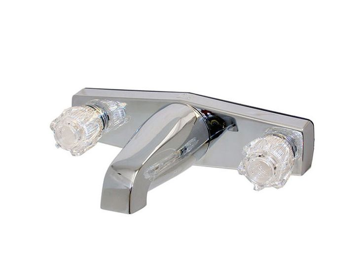8 inch offset tub faucet this faucet is made of bright plastic