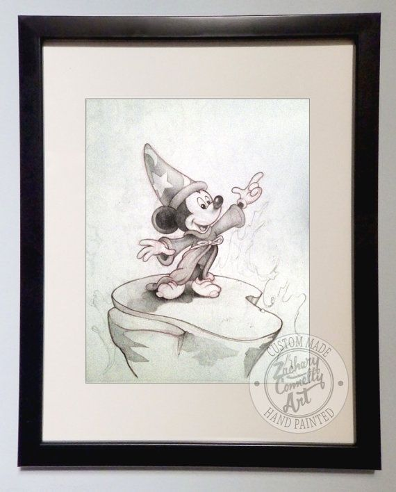 Mickey Mouse Sorcerer Mickey Art Print by ...