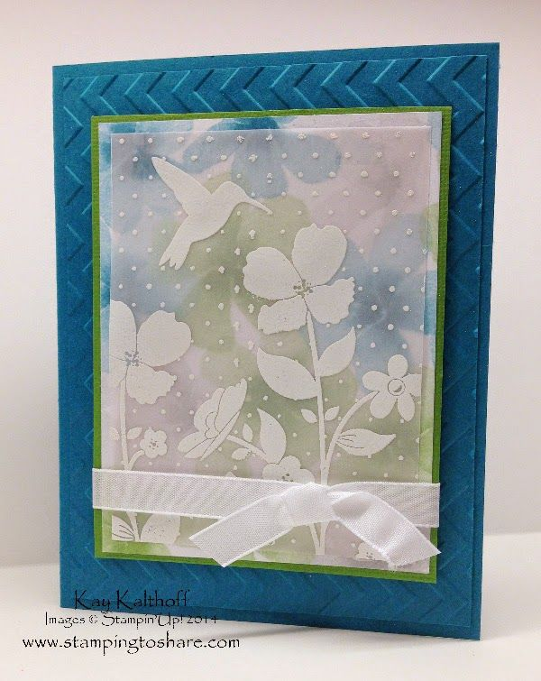 Wildflower Meadow on Vellum with a How To Video, Kay Kalthoff, Stamping to Share, Stampin' Up!, Watercolor Wonder Designer Series Paper, Vellum