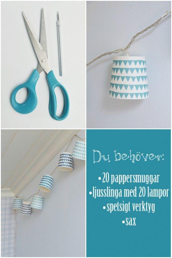 DIY ljusslinga | Anna-Lena bloggar om inredning