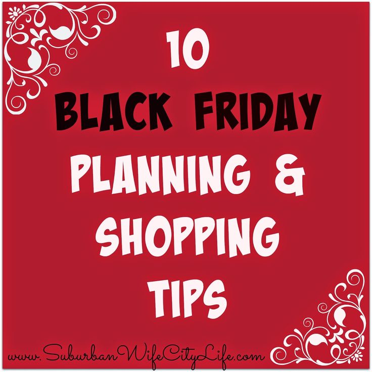 10 Black Friday Planning & Shopping Tips