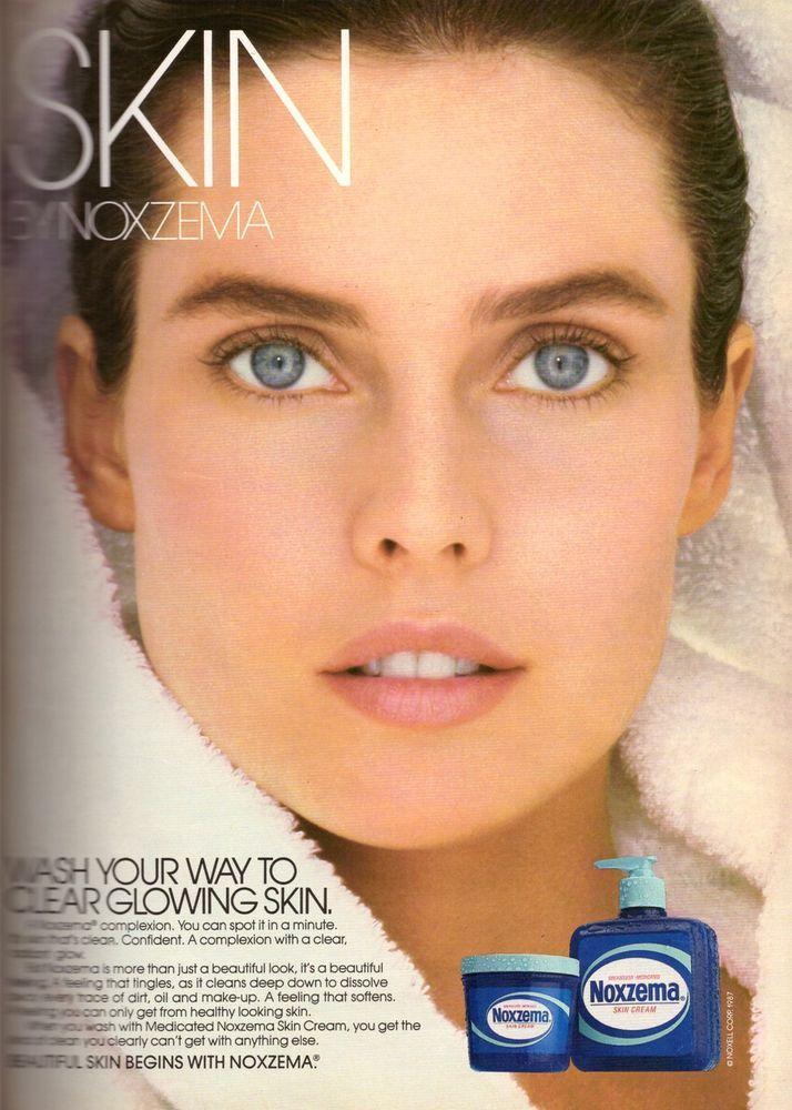 1987 Carol Alt Noxzema Skin Cream Retro Print Advertisement Vintage Ad VTG 80s #Noxzema