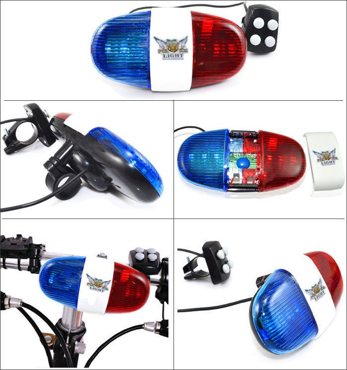 Bike Police Light Amp Electric Horn Siren 4 Melody 4