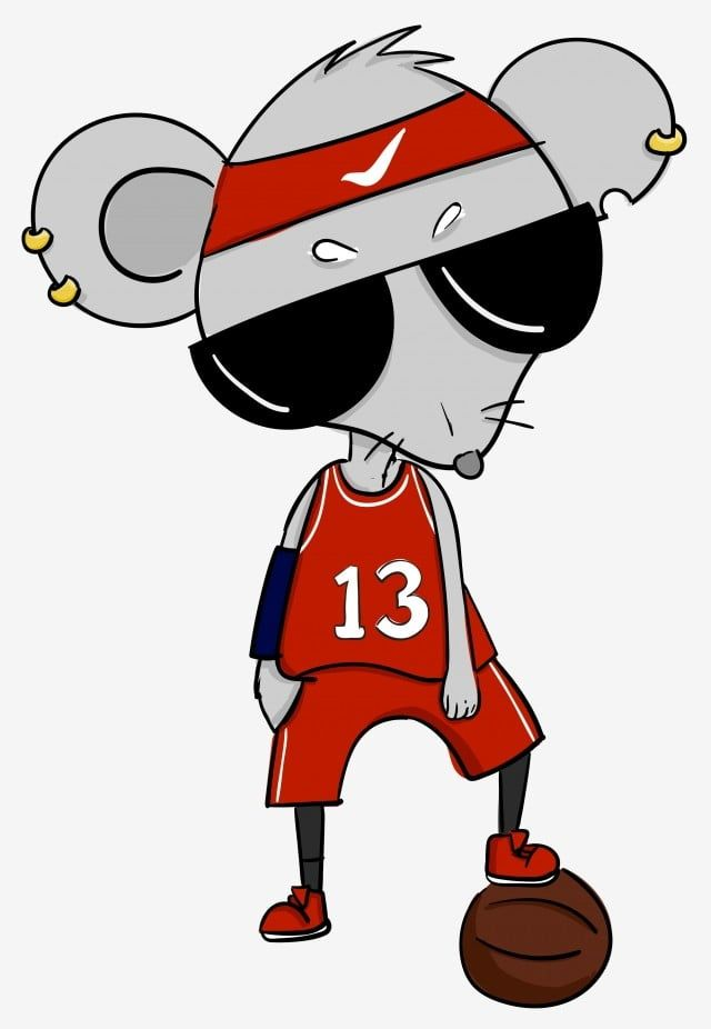Mano Juegos Animados Zodiaco Jugador De Baloncesto Atleta Rata Mascota El Baloncesto Atleta Dibujados Rata Los Dibujos Animados Zodiaco Uniformes De Baloncesto