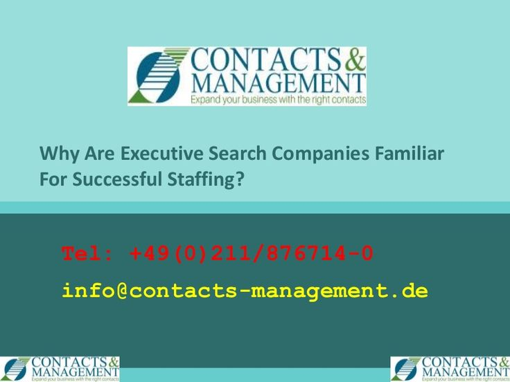 Why Are Executive Search Companies Familiar For Successful Staffing?  >>>>  So, what are the reasons which allow recruitment agencies to have more success in recruiting for your company? Why are they able to find the best people when you keep flipping through the resumes of different candidates?   #ExecutiveSearchGermany, #RecruitmentAgenciesGermany