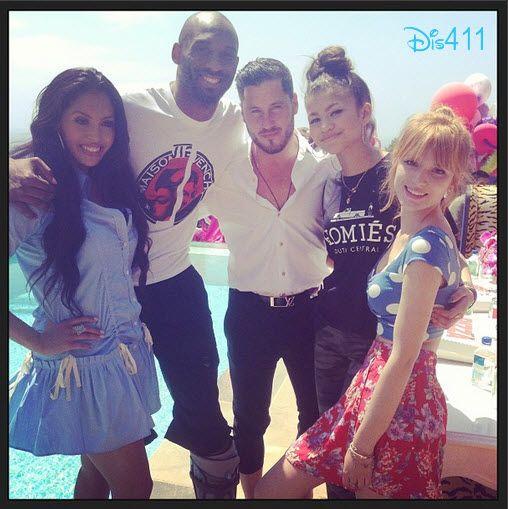 Bella Thorne, Zendaya And Val Chmerkovskiy With Vanessa And Kobe Bryant May 4, 2013