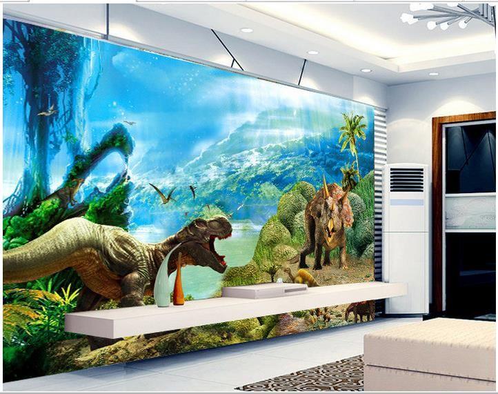 Barato 3d Papel De Parede Personalizado Murais De Parede 3d Papel De Parede  3 D Dinossauro Part 97
