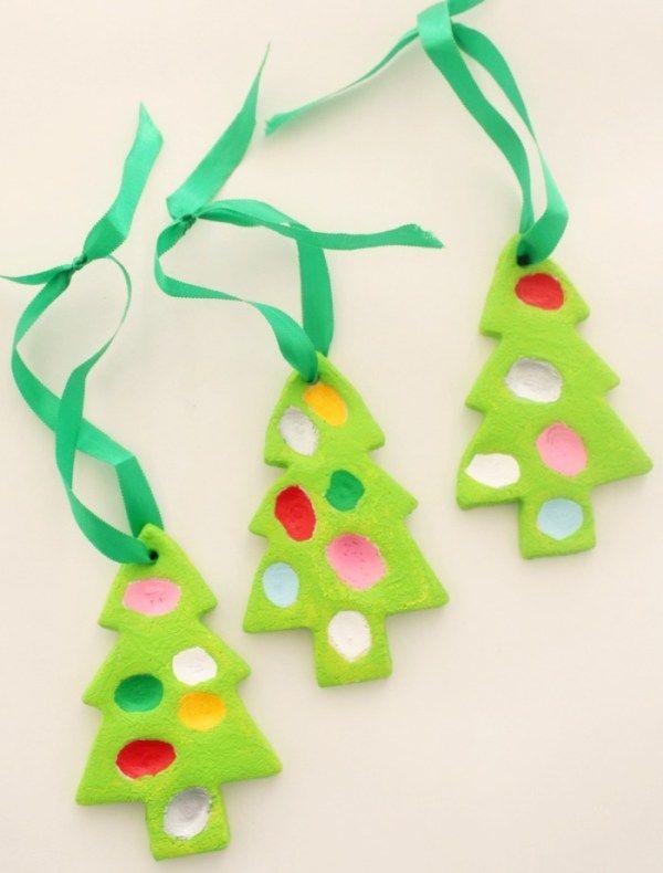 Finger Print Christmas Trees - Easy Salt Dough Christmas Tree