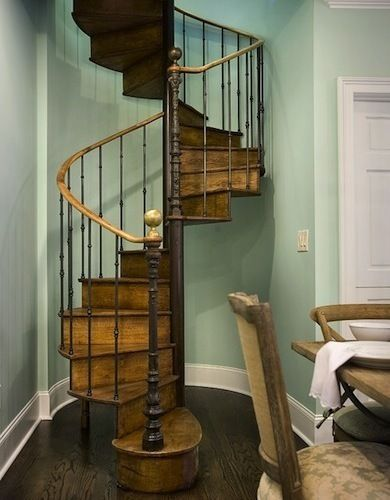 This Wood Spiral Staircase