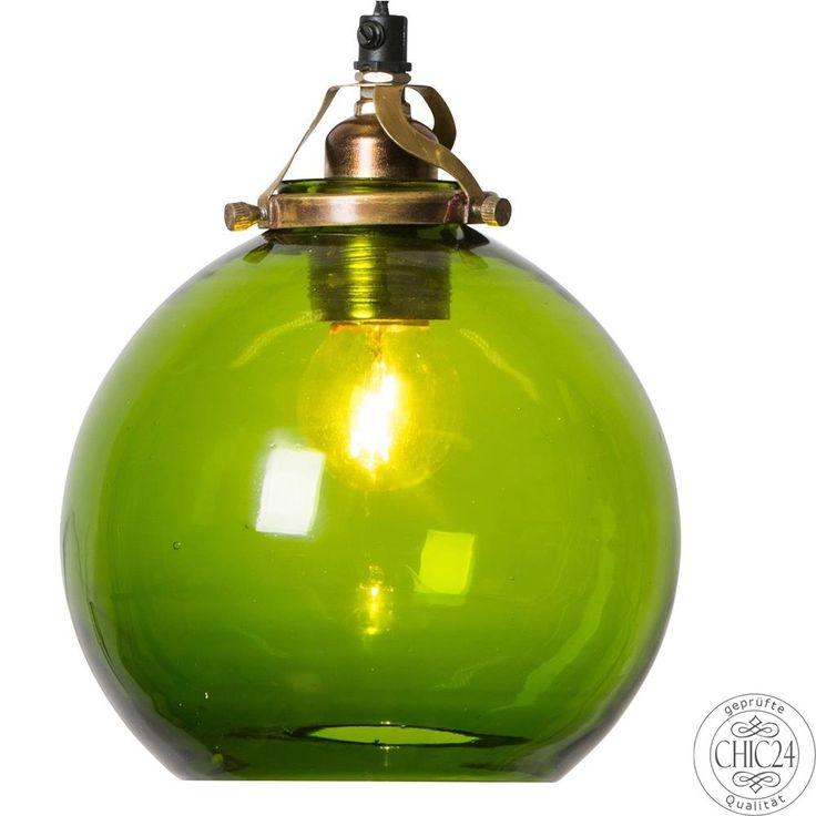 Pendelleuchte Hope S + Kabel, grün - chic24 - Vintage Möbel und Industriedesign Lampen Online kaufen, € 124,90