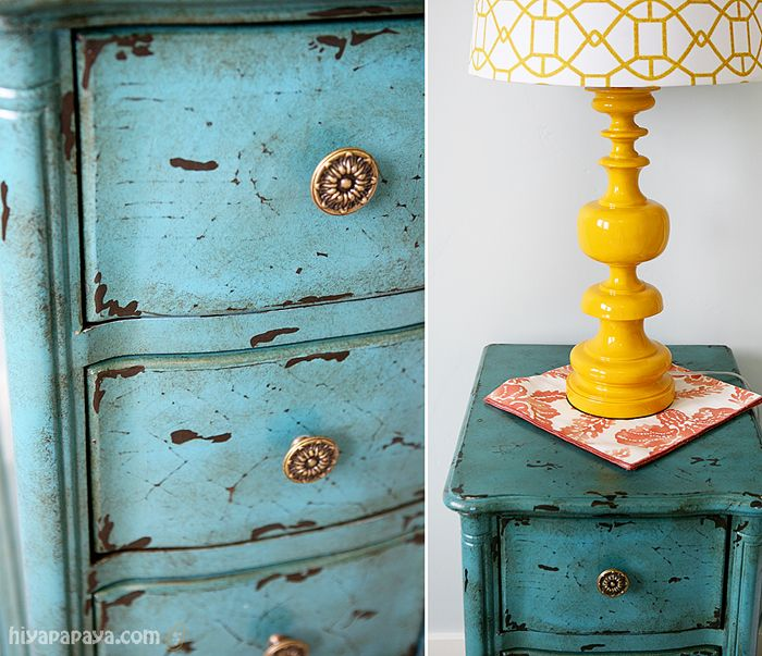 turquoise painted furniture ideas. Distressed Painted Furniture -turquoise Turquoise Ideas