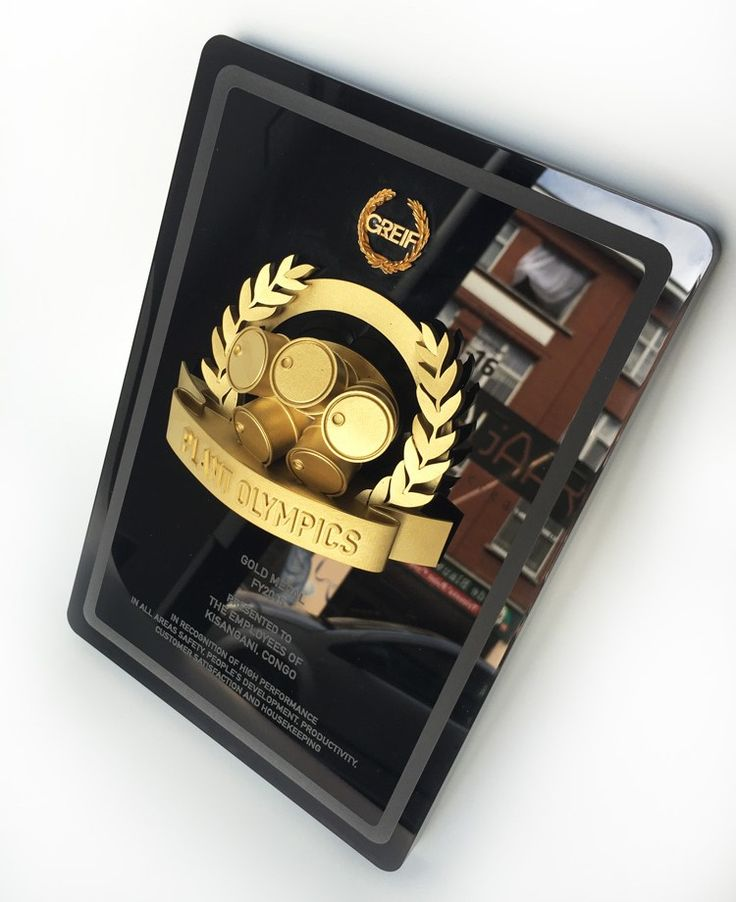 Greif Plant Olympic 2015 - 3D printed - acrylic awards