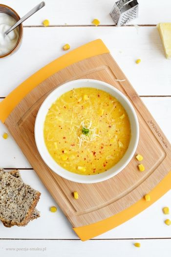 Zupa kukurydziana z chili (Creamy Corn Soup with Chili - recipe in Polish)