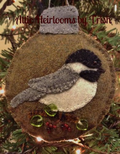 Attic Ornaments In Wool A Month Join Now!