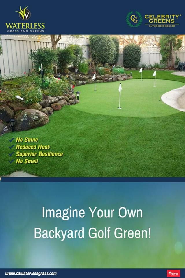 Stop dreaming about having your own putting green in the backyard and make it a reality! www.cawaterlessgrass.com #Fresno #Golf