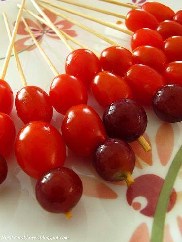 Candied grapes and cherry tomatoes. Brilliant!