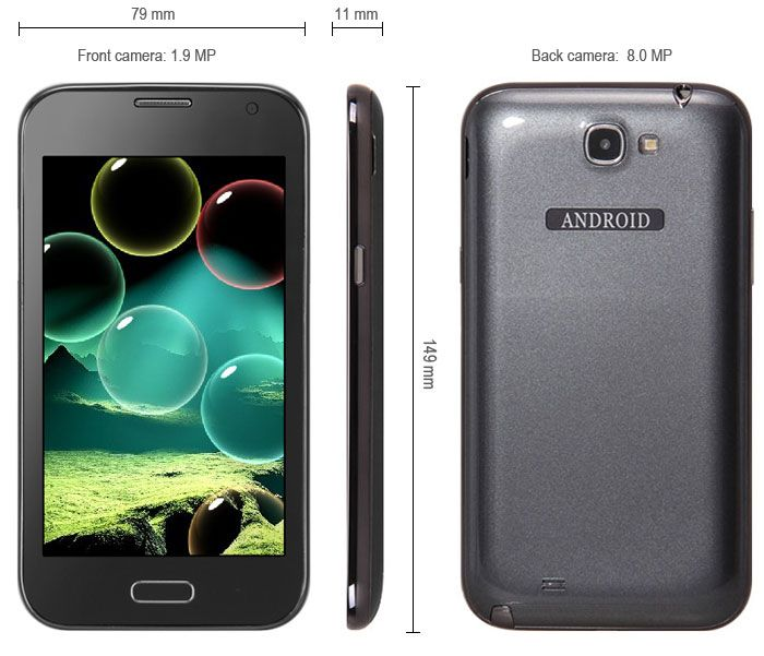 This phone will only work with GSM+WCDMA network Network type: GSM Frequency: GSM 850/900/1800/1900MHz Unlocked for Worldwide use, please check if your local area network is compatible with this phone  Main Features: Type: Touch screen phone  Color: Black OS: Android 4.1 CPU: SMDK4x12 1G... Click on Picture to go to Store