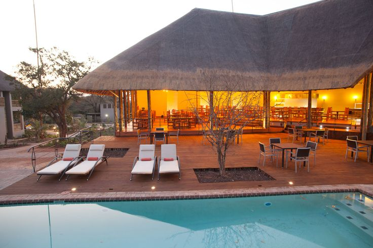 Wouldn't you like to relax by the pool at Chobe Bush Lodge? Luxury Safari Lodge - siatuated in Kasane, #Botswana