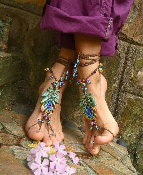 I want to make some for my happy hippie feet! <3
