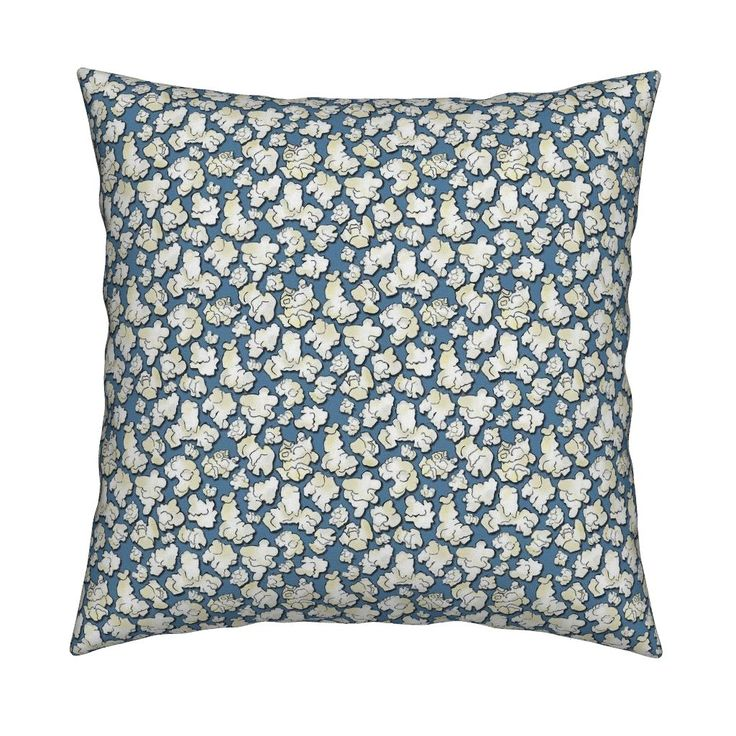 bluepopcorn Square Pillow by susiprint | Roostery Home Decor