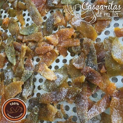 y así es como van quedando nuestras deliciosas cascaritas de Mandarina!!! #CascaritasDeMiTia #DulceTradicion #Dulces #Tradicionales #Artesanal #Cascaritas #Cascaras #Mandarina #Tangerine