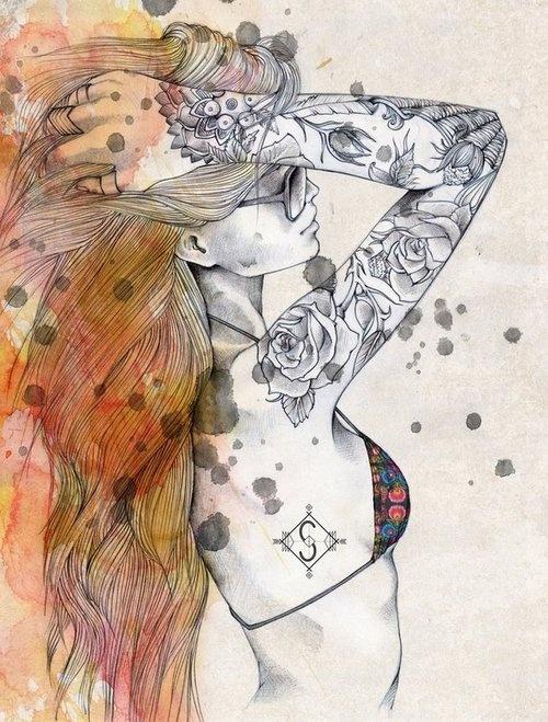 Roses sleeve design. #tattoo #tattoos #ink