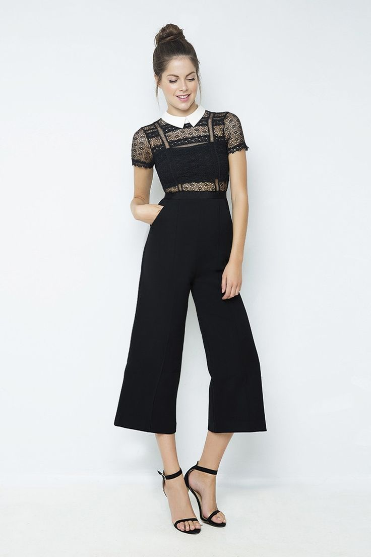 Jumpsuit with lace details by Zini  * Για αγορά online κλικ πανω στην εικόνα