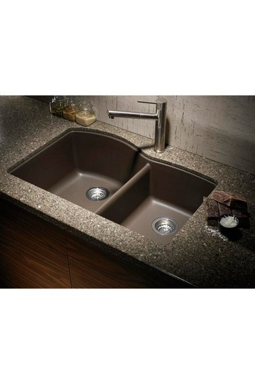 Freaking fantastic a granite colored sink i 39 m so tired for Colored stainless steel sinks