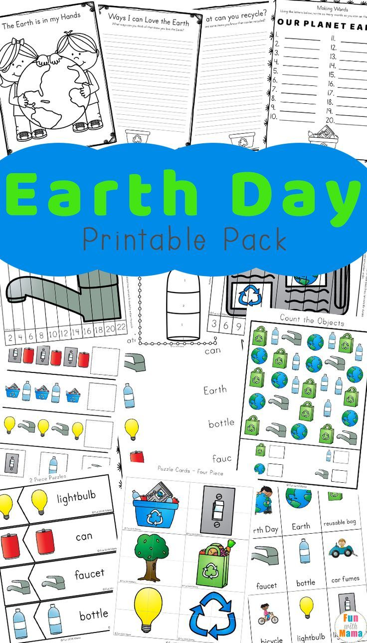 Earth Day Activities For Kids Including Printables And Worksheets Fun With Mama Earthday Freeprintables Earth Day Worksheets Earth Day Activities Earth Day [ 1288 x 736 Pixel ]