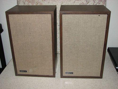 vtg advent 3 bookshelf speakers pair mid century stereo. Black Bedroom Furniture Sets. Home Design Ideas