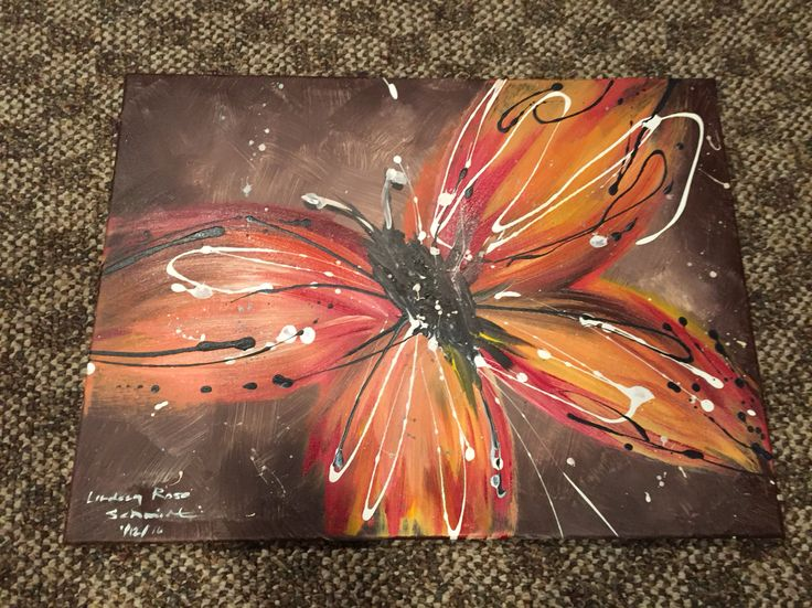 Butterfly canvas painting