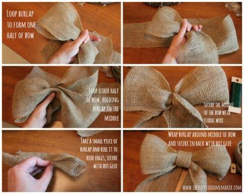 burlap bow Collage
