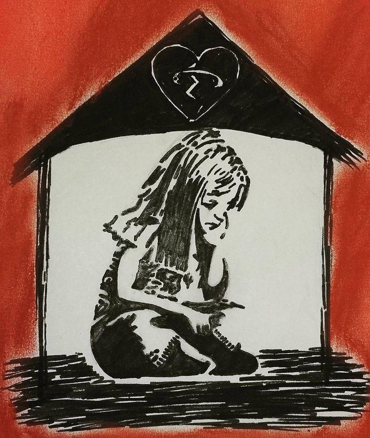 """This broken home. .. #brokenhome #sadness #sketch #fanart #cool #5sos #5sosfam #myart #drawing #soundsgoodfeelsgood #song #morning #goodmorning #banksy…"""